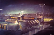 Newport County  Somerton Park  20'' x 30'' Box Canvas Print